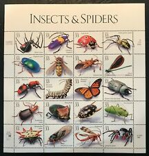 1999 - 33¢ - Scott #3351a-t - INSECTS AND SPIDERS - Full Sheet of 20, Mint NH