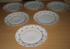 LOT DE 6 ASSIETTES PLATES ART DECO SAINT-FOY L'ARGENTIERE  FRANCE LIMOSA