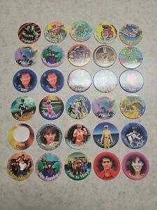 Lot of 30 Mighty Morphin Power Rangers Pogs Power Caps Vintage 1994