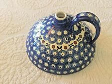 Boleslawiec Polish Pottery Peacock Eye Bed Warmer