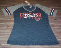 VINTAGE STYLE WOMEN'S TEEN CHICAGO BEARS NFL FOOTBALL T-Shirt MEDIUM NEW w/ TAG