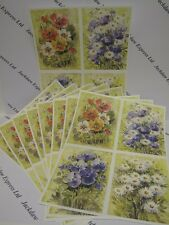 Watercolour Daisy Petunia Flower Print Card 10 x A4 120gsm Toppers AM541