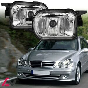00-04 For Mercedes-Benz W203 Clear Lens Pair Bumper Fog Light Lamp Replacement