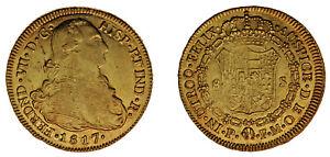 8 Gold ESCUDOS / Gold. Ferdinand VII - Fernando VII Popayán 1817. XF