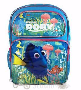 "16"" Disney Finding Dory Large Blue School Backpack for Girls"