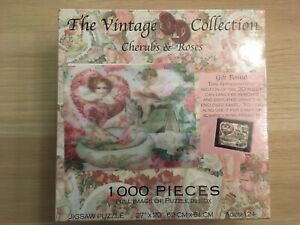 New Sealed Made in USA Cherubs & Roses Vintage Collection 3D Puzzle 1000 Piece