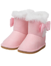 086f79c8e1d8 Gymboree Light Pink Winter Boots with Faux Fur   Bows Toddler Girl Size 7  NEW