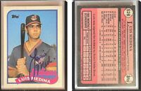 Luis Medina Signed 1989 Topps #528 Card Cleveland Indians Auto Autograph