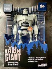 "Iron Giant w/ Lights Sounds Motor 14"" Action Figure Walmart Exclusive"
