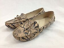 Wanted PACE Driving Shoes Women 5.5 Reptile Print Loafers Slip On Bows Close Toe