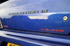 Mitsubishi Evo EVOLUTION IX Carbon Fibre Badges.