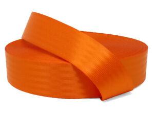 Orange 11 Panel Polyester Webbing | Seat Belt Webbing 47mm | Soft & very strong