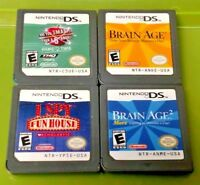 Brain Age 1, 2, I Spy Fun House, 5th Grader - Nintendo 2DS DS Lite 3DS Game Lot
