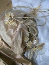 Charming antique French 1920s wedding dress crown silk stockings veil etc.