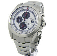CITIZEN MEN ECO-DRIVE JAPAN MADE CHRONOGRAPH TITANIUM 43mm SAPPHIRE CA0550-52A