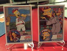 HOMER SIMPSON Baseball Card Set At The Bat BURNS SIMPSONS Springfield Softball