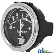 Brand New Tractor Ammeter Gauge Assembly (Chrome Face) A-50A60