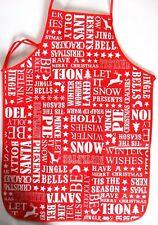 Anker - Erwachsene PVC Festliche Schriftzug rot Weihnachten Schürze x 2 - Great