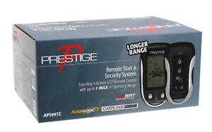 Prestige 2-Way 5-Button LCD Car Remote Start & Security Alarm System - APS997Z