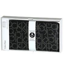 Calvin Klein Women's CK Logo Printed Zip Continental Long Monogram Wallet 79468
