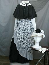 Victorian Dress Womens Edwardian Costume Civil War Outfit w Hat