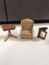 Vtg Mini Doll House Furniture room Ideal Chair medicine cabinet  Table japan