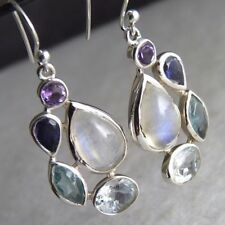 Handmade Moonstone Not Enhanced Fine Earrings