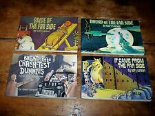 GARY LARSON ( 4 ) BOOK set sale: BRIDE OF / CRASH TEST / HOUND OF / IT CAME FROM