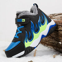 Kids Boys Girls Winter Snow Boots Outdoor Warm Shoes Waterproof Hiking Boots