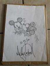 Michael Jackson Signed Drawing