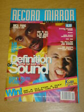 RECORD MIRROR MARCH 9 DEFINITION OF SOUND MICA PARIS