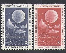 UN (NY) 1957 Meteorological/Meteorology/Weather/Balloon/Clouds 2v set (n37549)