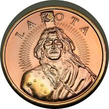 elf Lakota Tribal Lands 2 Units 1 Ounce Undated  Crazy Horse Buffalo
