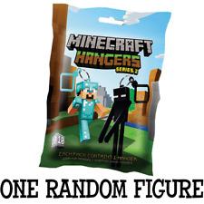 """1x OFFICIAL SERIES 2 Minecraft 3"""" inch random Hanger Keychain ONE SUPPLIED"""