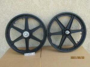 NEW  20'' BICYCLE MAGS WHEEL SET 6 SPOKES  FOR BMX , GT, DINO, MONGOOSE, ETC