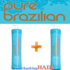 PURE BRAZILIAN ANTI-FRIZZ SHAMPOO & CONDITIONER 33.8oz/1l DUO SET!!!WITH PUMP!!!
