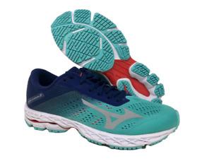 New Mizuno Wave Shadow 3 Blue Grass Glacier Gray Running Shoes Womens Sz 10 US