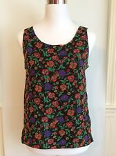 Chaus - Vintage Woman's Tank Top - Flowers - Size: S