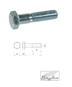Vite a testa esagonale M12 (pz. 10)  DIN 931, filettatura 8.8 ( hex screws )