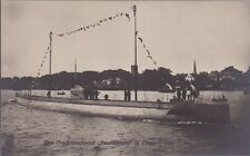 """uralte AK, Das Frachttauchboot """"Deutschland"""" in Flaggen-Gala == U-Boot 1.WK /RAR"""