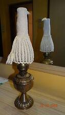 VINTAGE  ANTIQUE BRASS & BRONZE OLD  OIL LAMP LIGHT