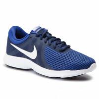 New Nike Revolution 4 EU Mens Navy Blue White Lightweight Running Sports Shoes