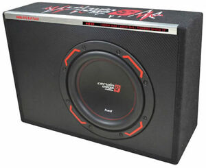 """CERWIN-VEGA 400W 12"""" HED Series Vented Slim Subwoofer Enclosure + Amp   H6TE12SV"""