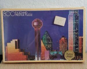 Dallas Texas Vintage Skyline 800 Piece Puzzle FX Schmid SEALED