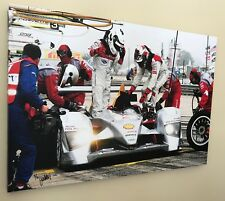 Audi Pit Stop - 24x36 Canvas print, signed by photographer, Ready to hang!
