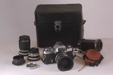 ZEISS IKON ICAREX 35CS with 35, 50 &135mm and XTRAS