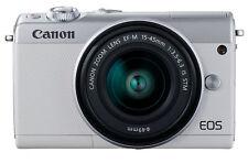 Canon EOS m100 sistema cámara-blanco kit con ef-m 15-45mm is STM objetivamente nuevo embalaje original