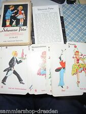 Peter NERO gioco di carte 1930er anni Lisbeth hönigsmann Altenburg COMPL.