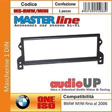 Mascherina Autoradio 1 DIN BMW Mini fino al 2006 Adattatore un Din. Masterline