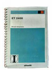 Manuale D'istruzioni Olivetti ET 2400